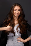 Porträt der Geschäftsfrau mit Lächeln Lizenzfreies Stockbild