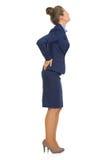 Porträt der Geschäftsfrau mit Rückenschmerzen Stockfotografie