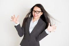 Porträt der glücklichen asiatischen Geschäftsfrau stockbilder