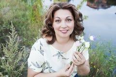 Porträt der glücklichen Frau Lizenzfreies Stockbild