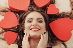 Porträt der glücklichen Frau Editable Abbildung Lizenzfreie Stockfotografie