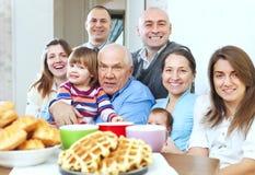 Porträt der großen Familie stockfotografie