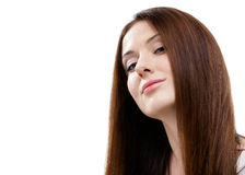 Porträt der hübschen Frau lizenzfreies stockbild