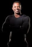 Porträt der jungen Afroamerikaneraufstellung Lizenzfreie Stockbilder