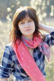 Porträt der jungen Frau Stockfoto