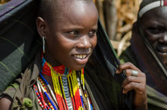 Porträt der jungen Frau von Arbore-Stamm, Äthiopien Stockfoto