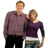 Porträt der jungen lächelnden Paare Stockfotos