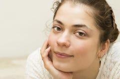 Porträt der jungen Schönheit. Stockfoto