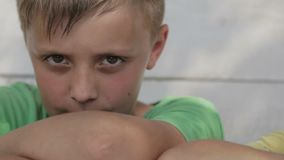 Porträt der Kinder der Freunde, welche die Kamera betrachten stock footage