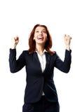 Porträt der lächelnden Geschäftsfrau stockfotos