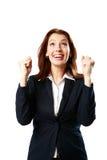 Porträt der lächelnden Geschäftsfrau lizenzfreies stockbild