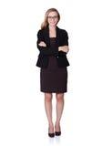 Porträt der lächelnden Geschäftsfrau Standing Arms Crossed Lizenzfreies Stockbild
