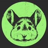 Porträt der Maus lizenzfreie abbildung