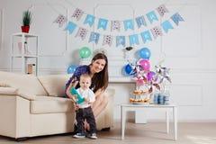Porträt der Mutter und des Babys Stockbilder