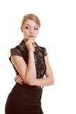 Porträt der nachdenklichen Frau der thougthful Geschäftsfrau Lizenzfreie Stockfotografie