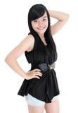 Porträt der netten Mädchenmode-modell-Aufstellung Stockbilder