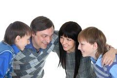 Porträt der netten vierköpfiger Familie Lizenzfreie Stockfotos