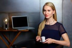Porträt der nordischen Geschäftsfrau lizenzfreies stockbild