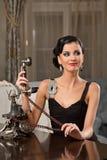 Porträt der recht jungen Frau Lizenzfreie Stockfotos