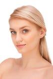 Porträt der schönen blonden Frau stockfoto
