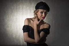 Porträt der schönen blonden Frau Lizenzfreie Stockbilder