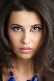 Porträt der schönen Brünettefrau Stockbild