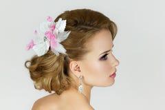 Porträt der schönen Braut Stockfoto
