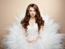 Porträt der schönen Braut. Hochzeitsfoto Lizenzfreie Stockfotografie
