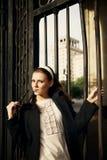Porträt der schönen Frau Stockfotografie