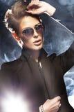 Porträt der schönen Geschäftsfrau Stockfotos