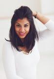 Porträt der schönen indischen Frau stockbild