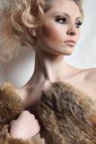 Porträt der schönen jungen Frau Lizenzfreie Stockfotografie
