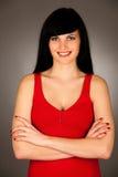 Porträt der schönen jungen Frau lokalisiert Lizenzfreie Stockfotografie