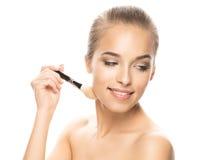 Porträt der schönen jungen Frau mit Make-up Lizenzfreie Stockfotos