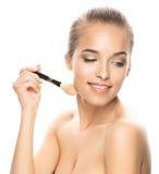 Porträt der schönen jungen Frau mit Make-up Stockfoto