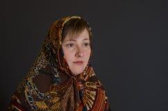 Porträt der schönen kaukasischen reifen Frau Stockfotos