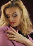 Porträt der schönen Mädchennahaufnahme. Lizenzfreie Stockbilder