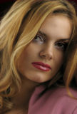 Porträt der schönen Mädchennahaufnahme. Stockbild