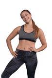 Porträt der schöner und des Athleten jungen Frau Stockbilder
