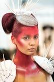 Porträt der Schönheit an der Haarmodeschau Stockfotografie