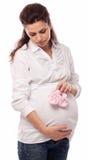 Porträt der schwangeren Frau. Lizenzfreies Stockbild
