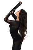 Porträt der sexy Frau in einer schwarzen Spitze Lizenzfreie Stockfotos