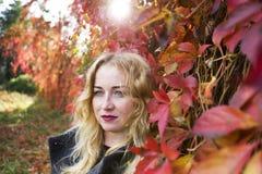 Porträt der träumerischen blonden Frau Lizenzfreie Stockfotografie