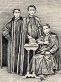 Porträt der Väter Burgos, Gómez und Zamoras Stockfotografie