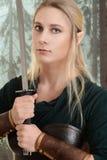 Porträt der weiblichen hölzernen Elfe Stockbilder