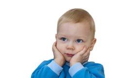 Porträt des überraschten Kindes lokalisiert Lizenzfreie Stockfotografie