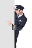 Porträt des überzeugten Piloten Stockfoto