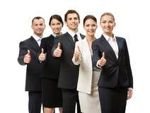 Porträt des Abgreifens herauf Gruppe Geschäftsleute stockfoto