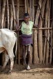 Porträt des afrikanischen Jungen Stockfotos