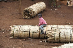 Porträt des afrikanischen Jungen Stockbild